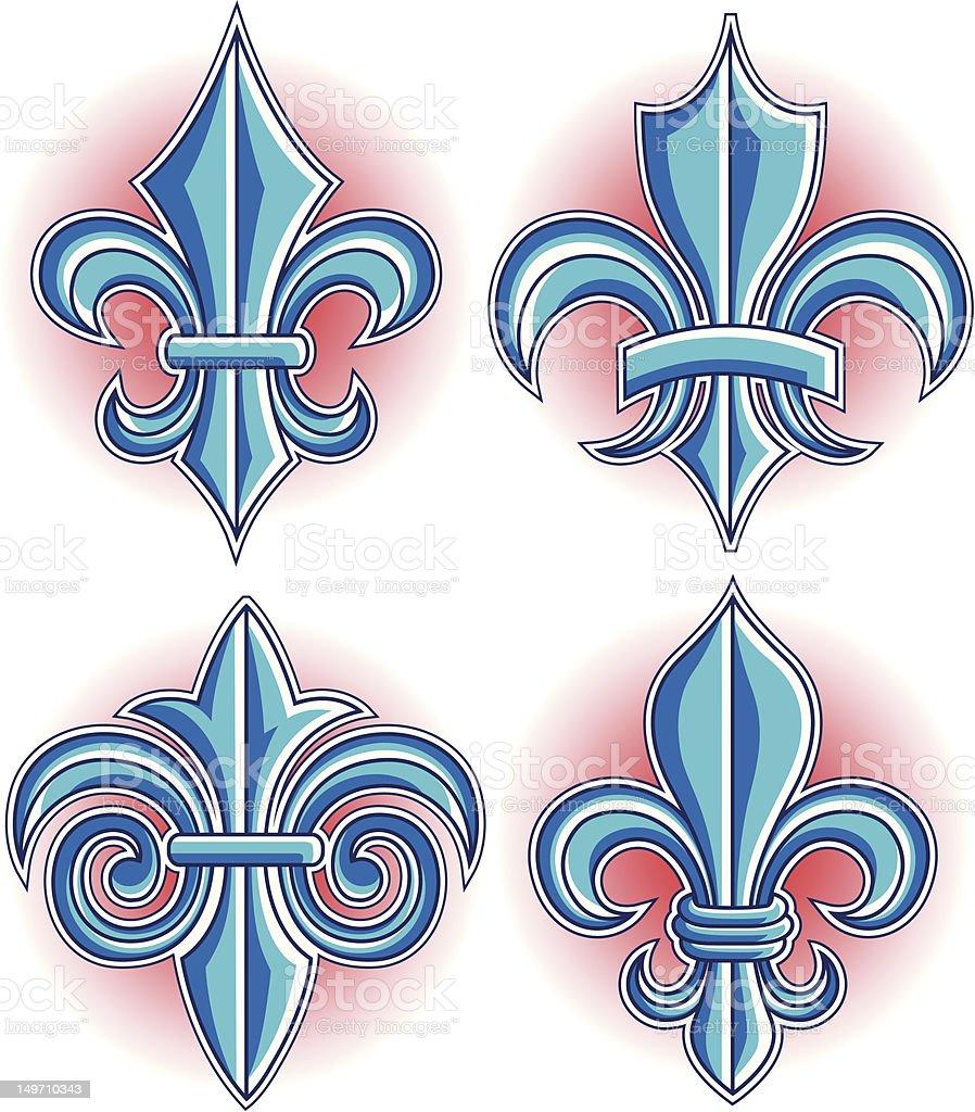 fleur de lys simbolo illustrazione royalty-free
