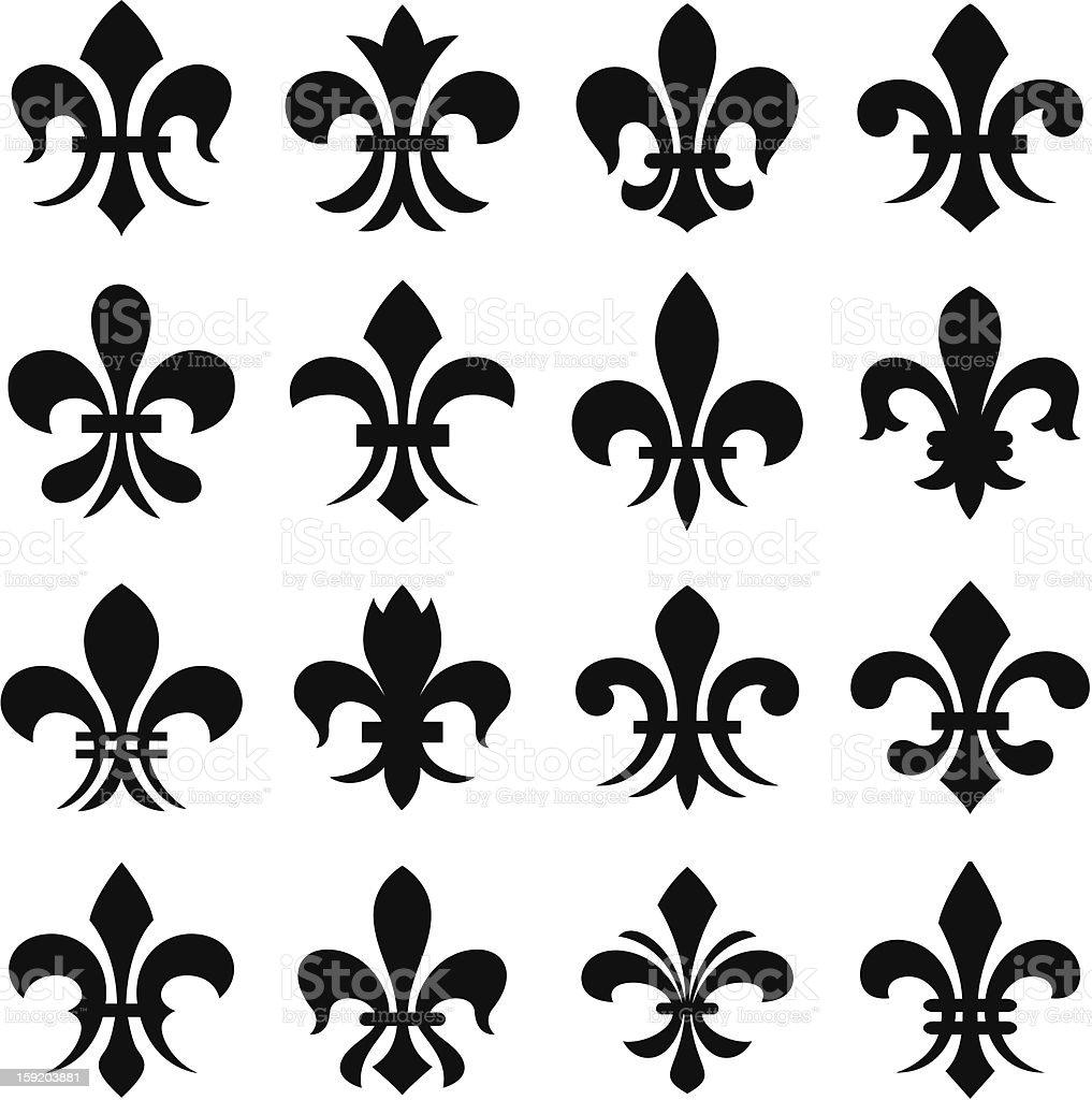 fleur de lys symbol royalty-free stock vector art