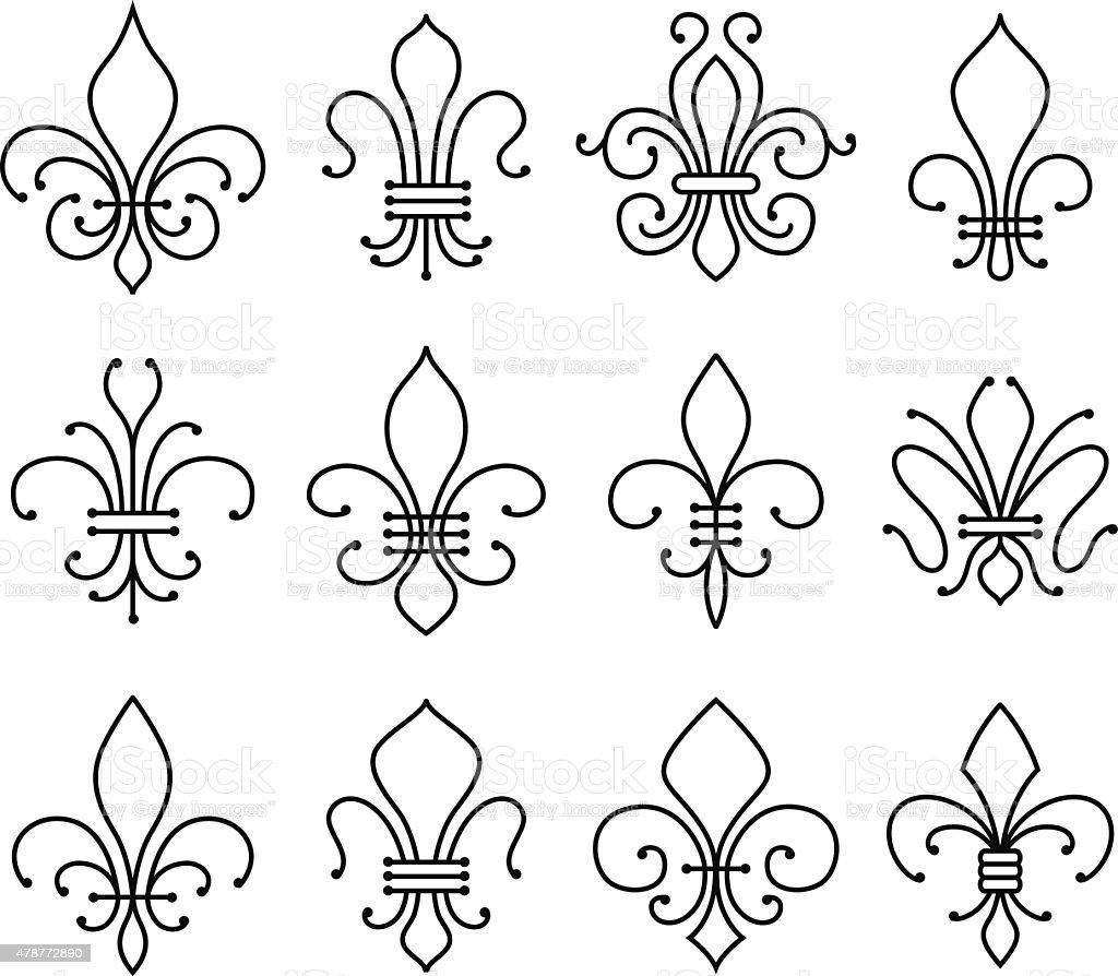 fleur de lys symbol vector art illustration