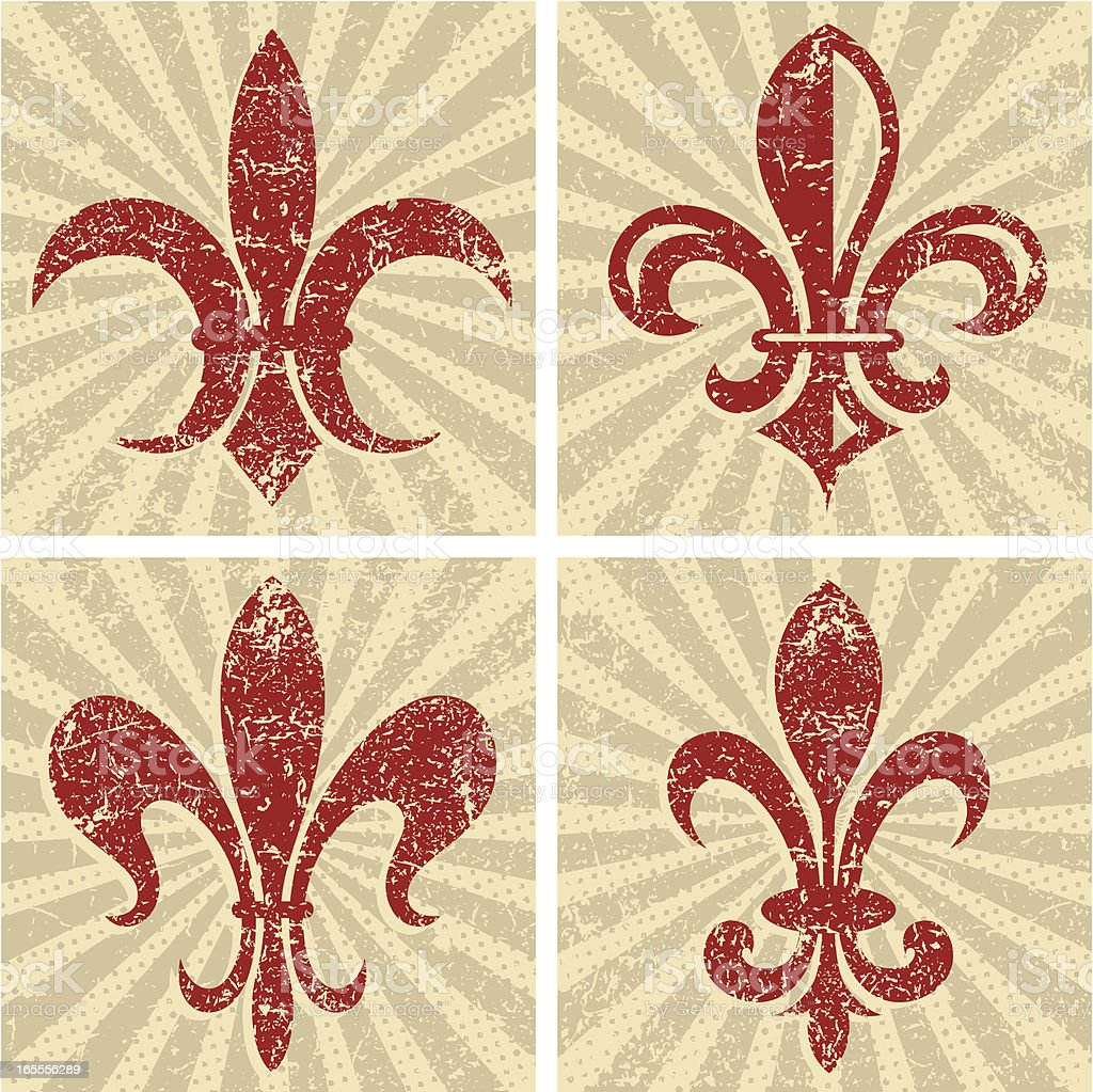 Fleur de Lys royalty-free stock vector art