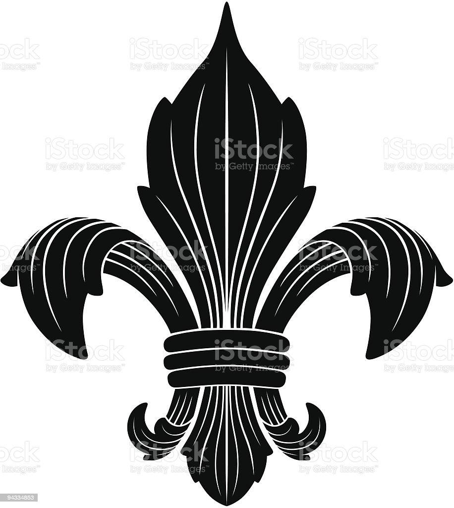 Fleur De Lys vector art illustration