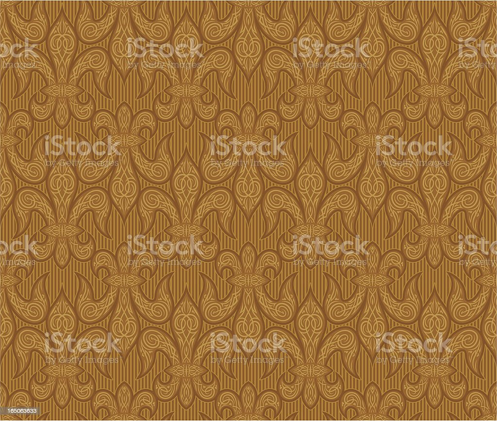Fleur De Lys Wallpaper vector art illustration