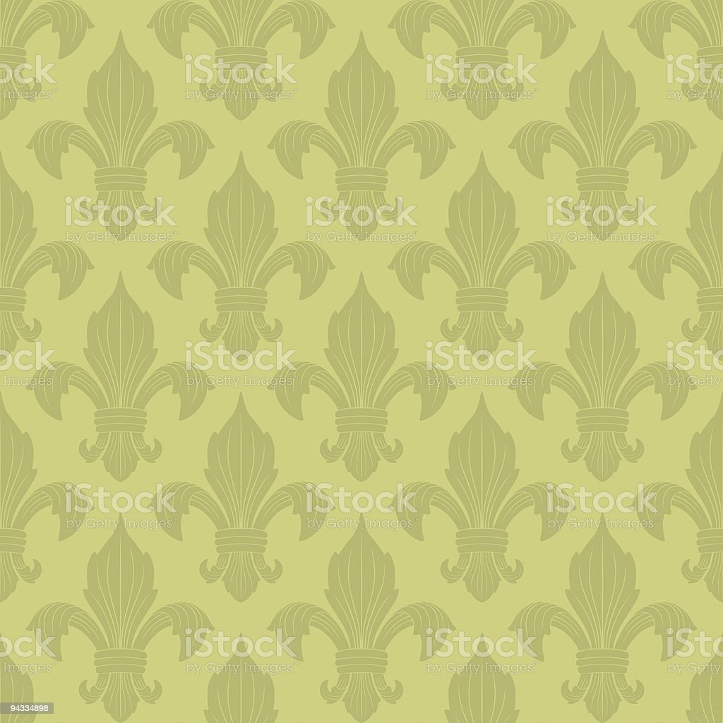 Fleur De Lys Wallpaper royalty-free stock vector art