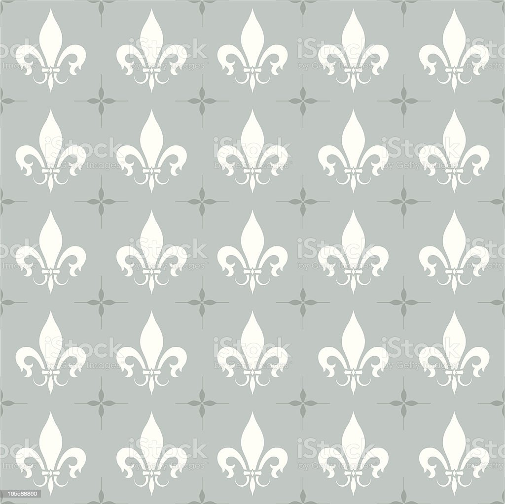 Fleur-de-Lis Seamless Wallpaper royalty-free stock vector art