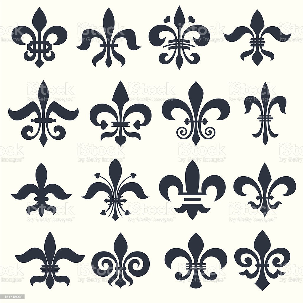 Fleur de lis royalty-free stock vector art
