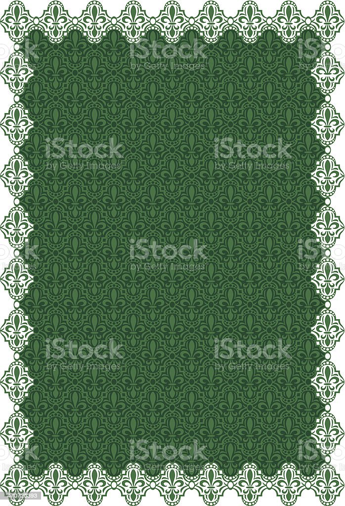 Fleurs De Lis Frame C royalty-free stock vector art