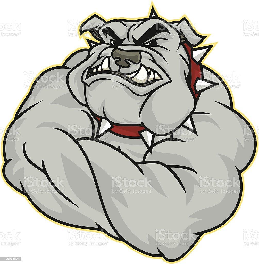 Flex Bulldog royalty-free stock vector art