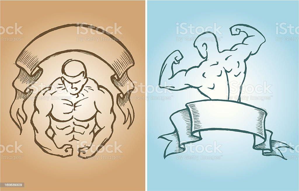 Flex Muscles royalty-free stock vector art