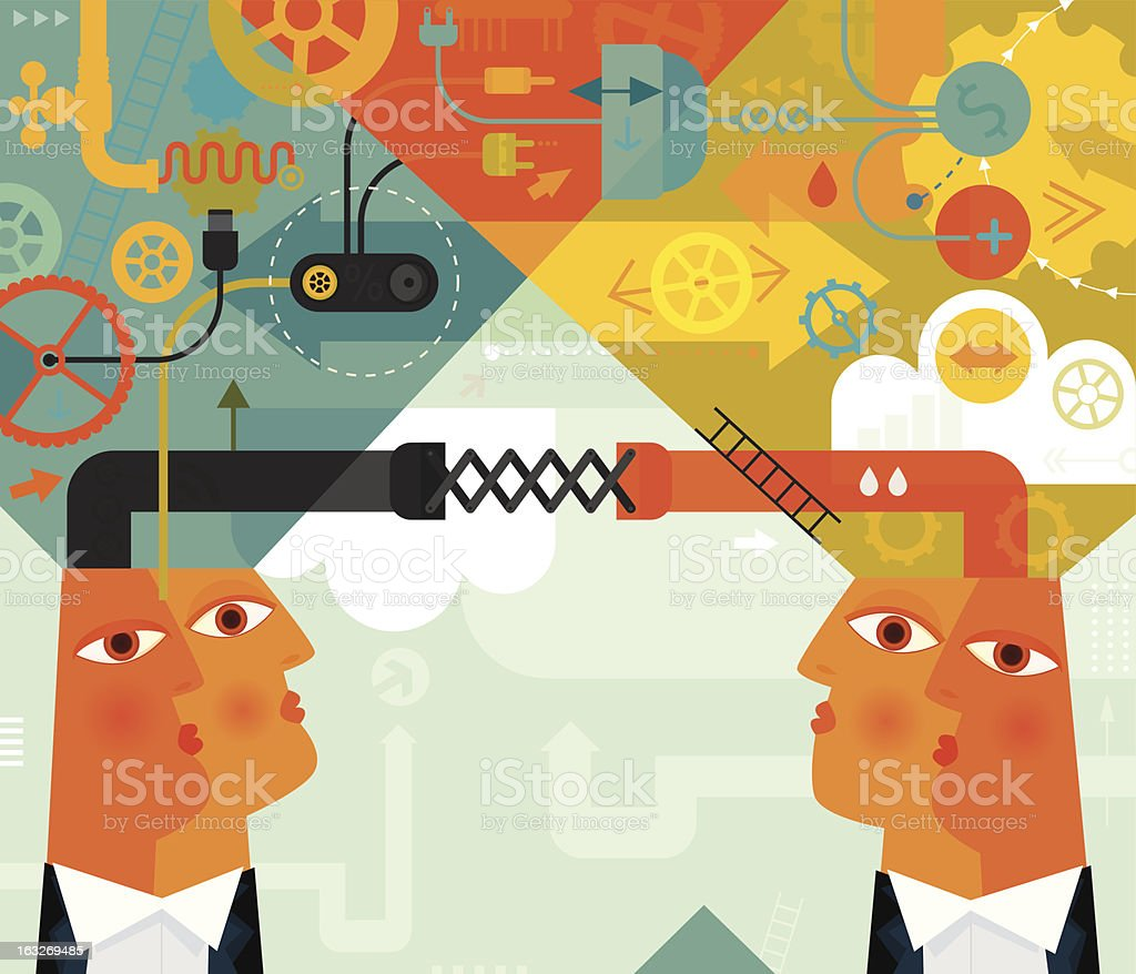 Flexibility Between Business Partners royalty-free stock vector art