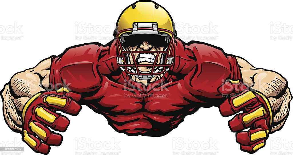 Flexing Football Player royalty-free stock vector art