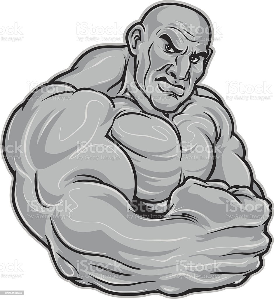 Flexing Muscles royalty-free stock vector art