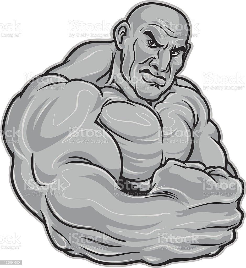 Flexing Muscles vector art illustration
