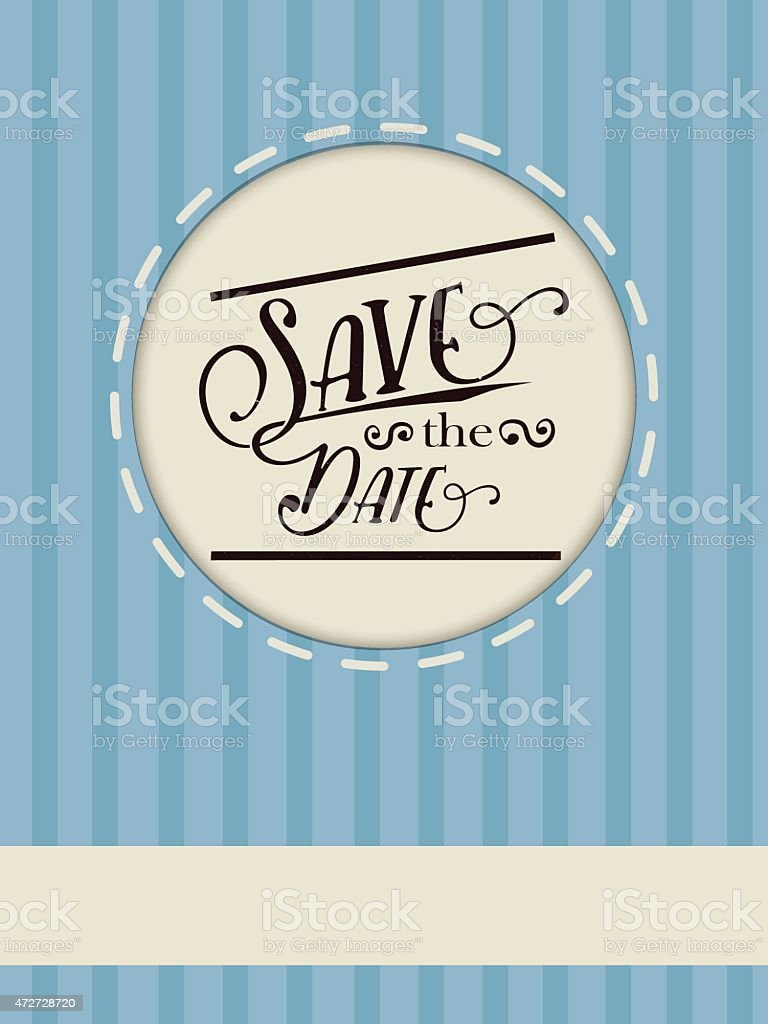 Flier on blue background in vector. vector art illustration