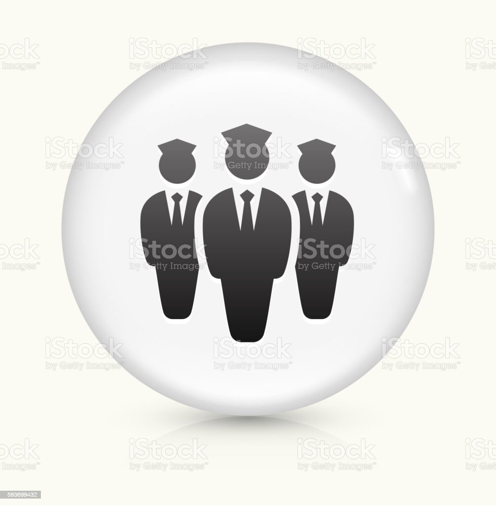 Flight Attendants icon on white round vector button vector art illustration