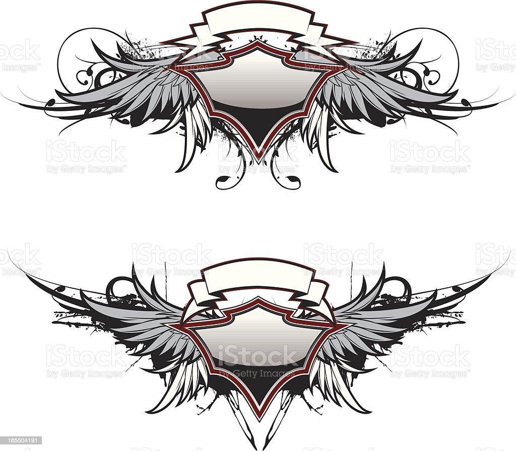 flight crest royalty-free stock vector art