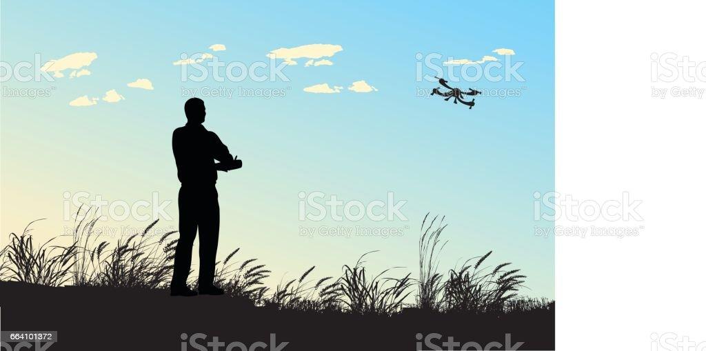 Flight Hobby vector art illustration