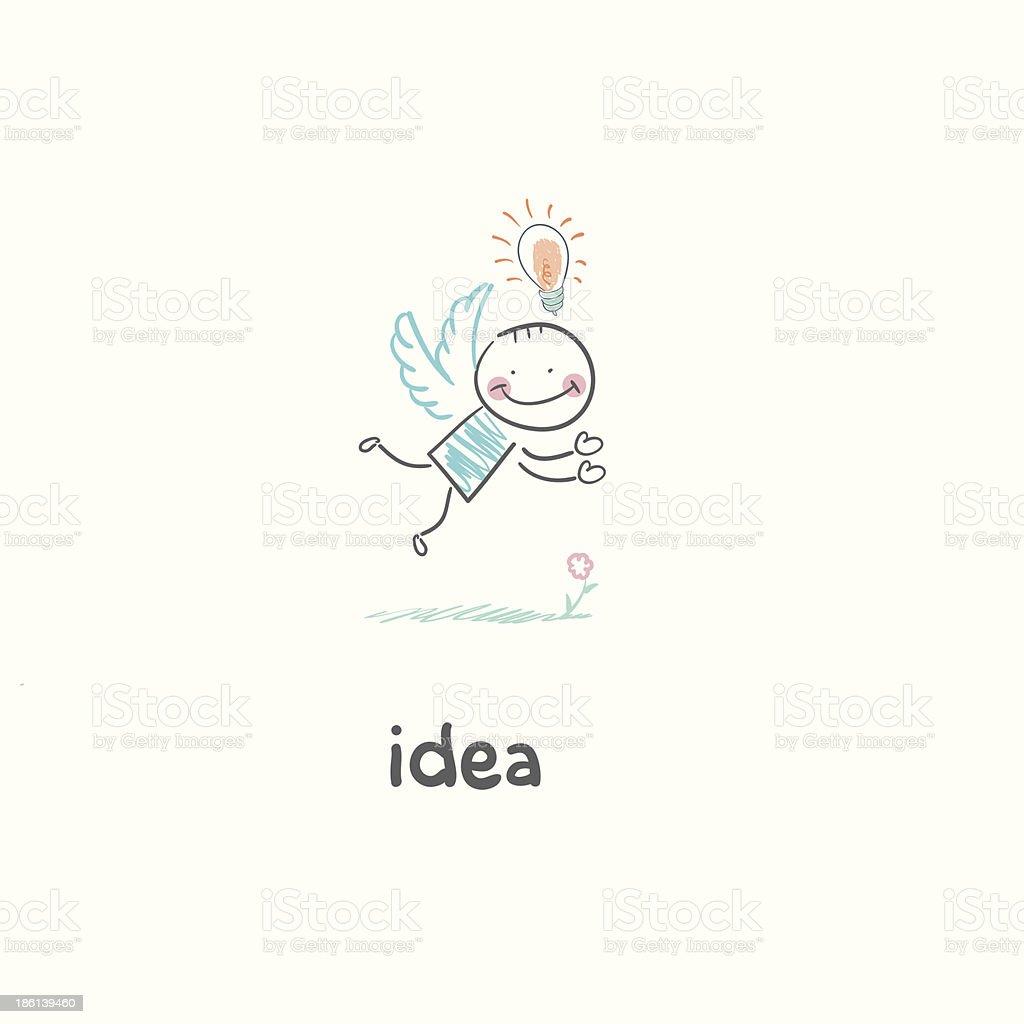 Flight of ideas. illustration royalty-free stock vector art