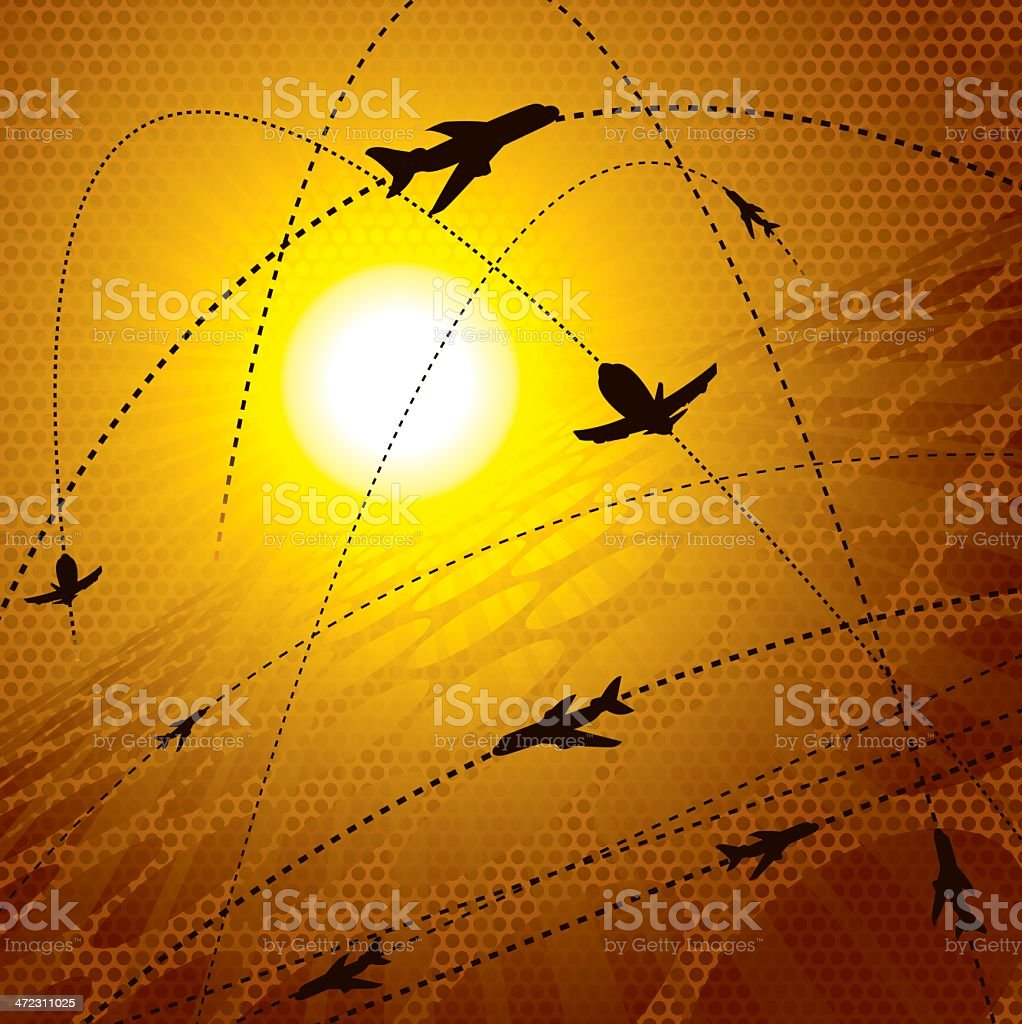 Flight Pattern - Airline or Airplane royalty-free stock vector art