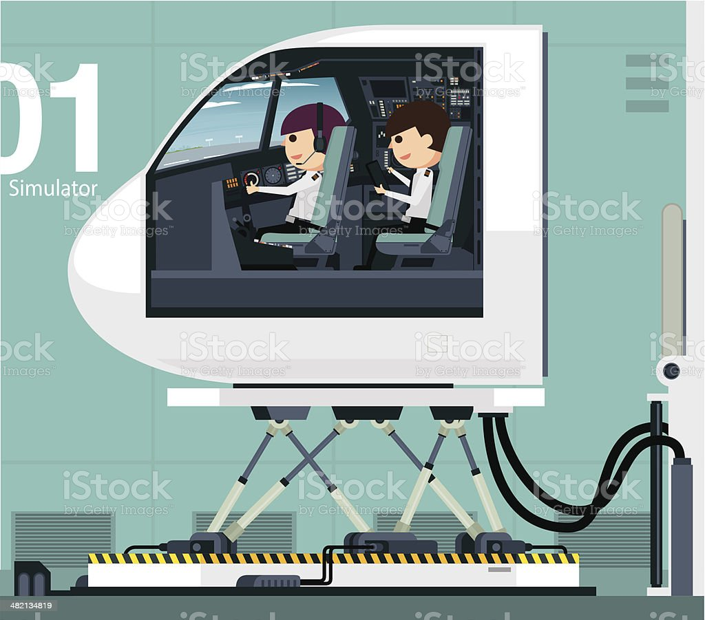 Flight Simulator royalty-free stock vector art