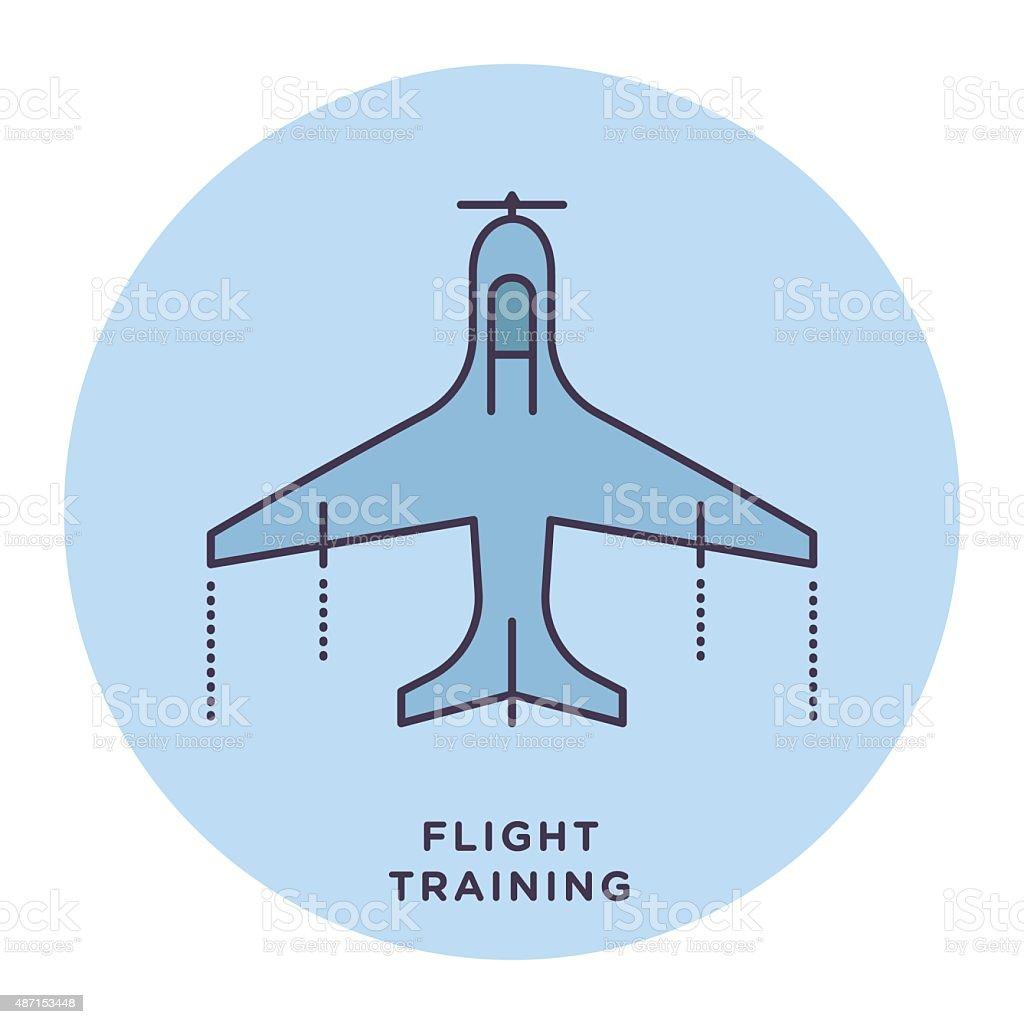 Flight Training vector art illustration