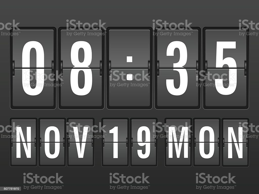 Flip clock background vector art illustration