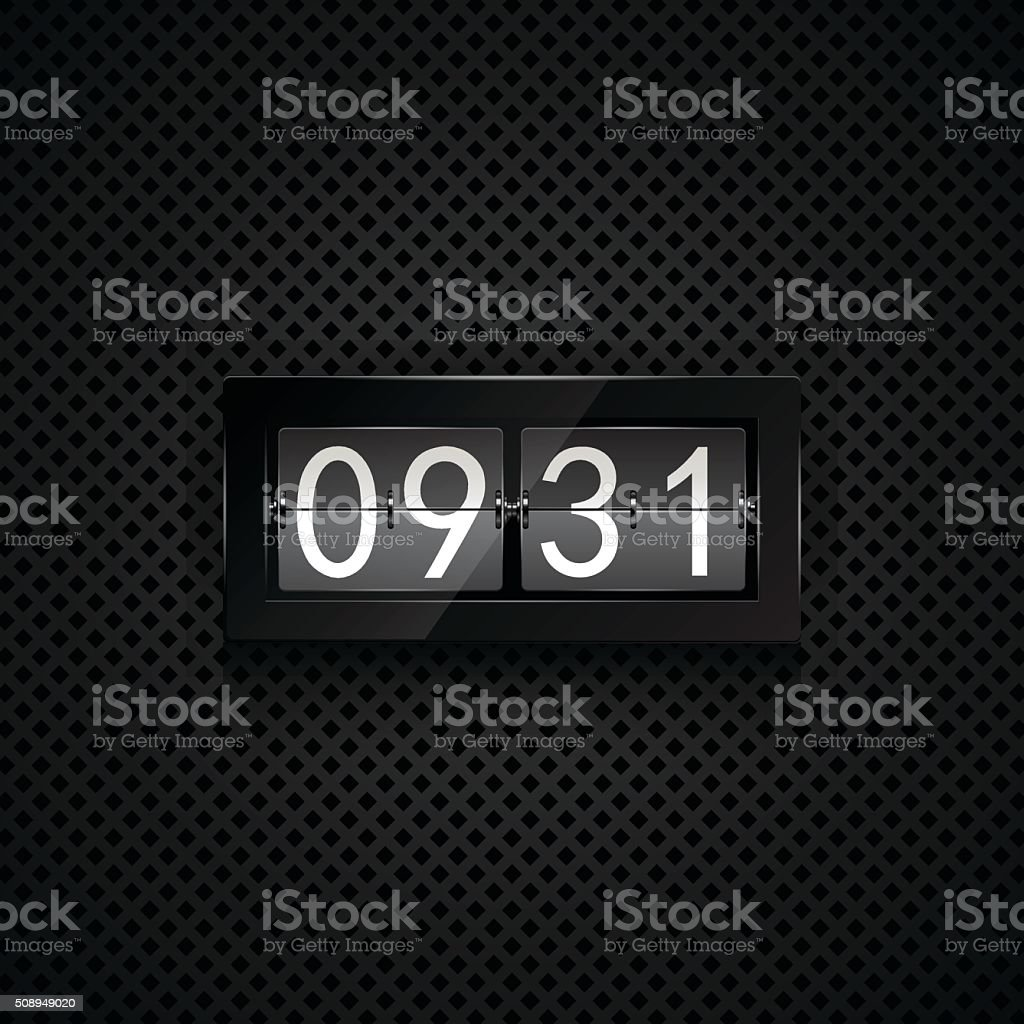 Flip clock vector art illustration