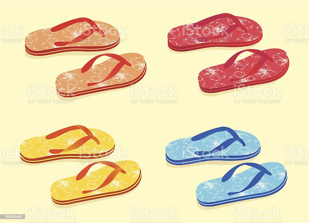 Flip Flops . royalty-free stock vector art