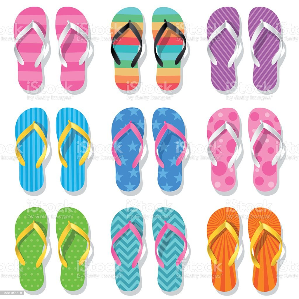 Flip Flops vector art illustration