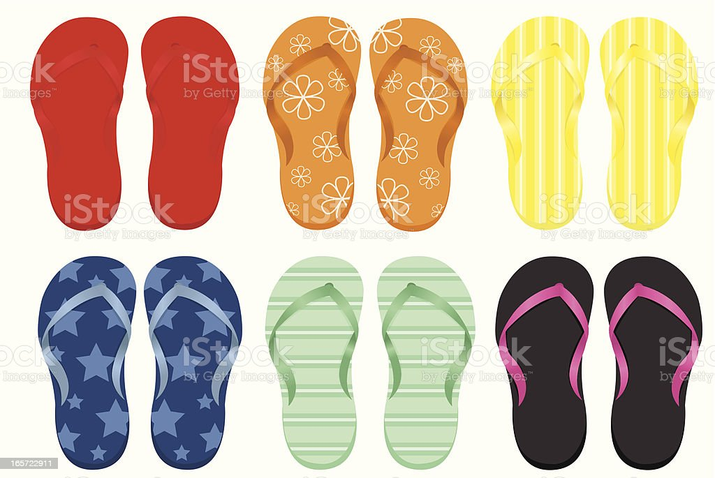 Flip-flops royalty-free stock vector art