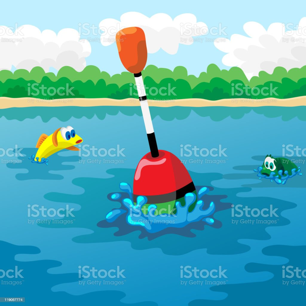 Float in water royalty-free stock vector art