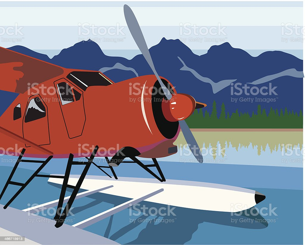 Float Plane C royalty-free stock vector art