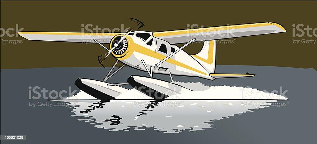 Float Plane royalty-free stock vector art