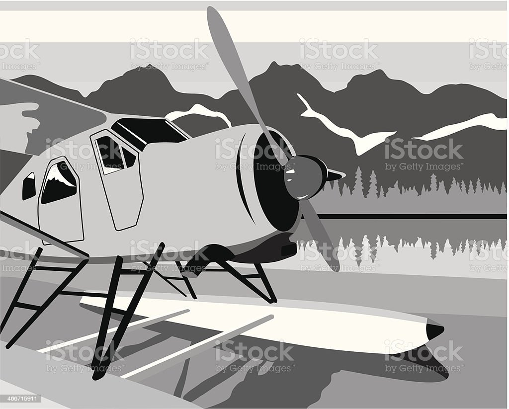 Float Plane royalty-free stock vector art