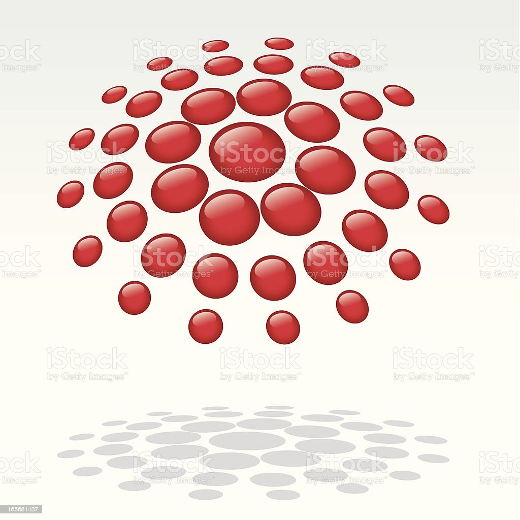 Floating Dots royalty-free stock vector art