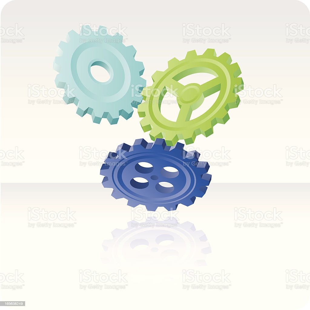 Floating gears royalty-free stock vector art