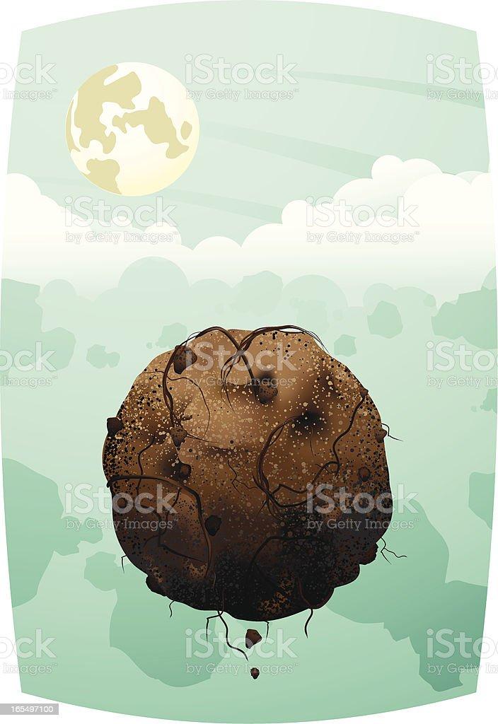 Floating Ground: Light Landscape 2 vector art illustration