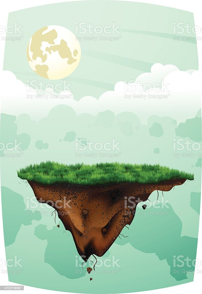 Floating Ground: Light Landscape vector art illustration