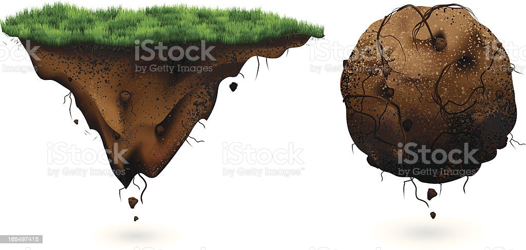 Floating Ground vector art illustration