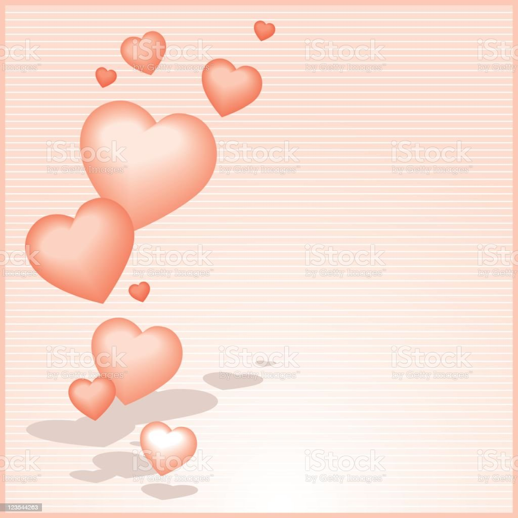 Floating Hearts royalty-free stock vector art
