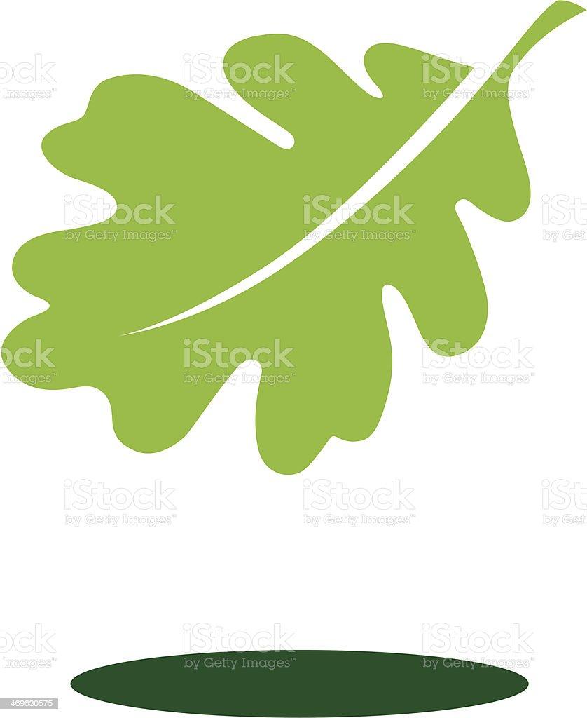 Floating Leaf vector art illustration