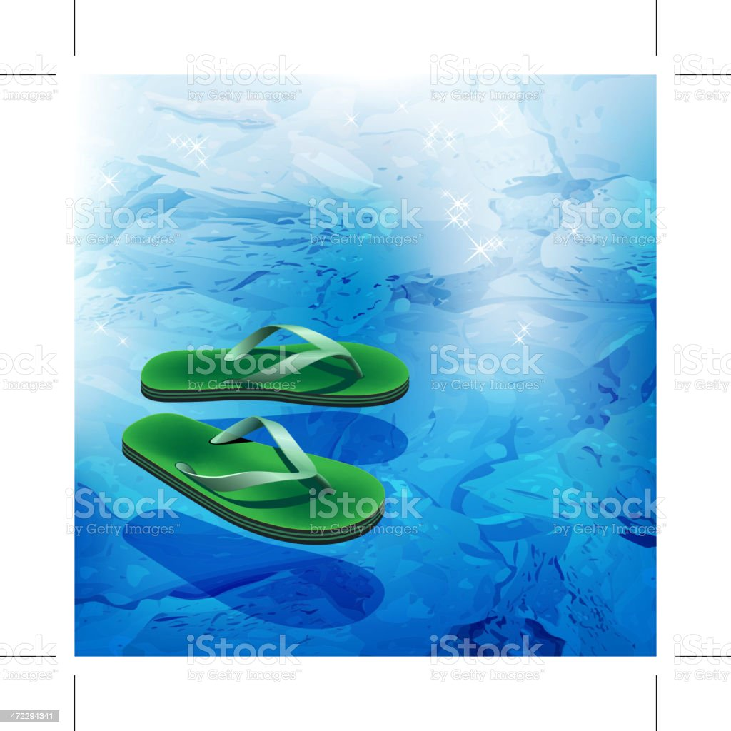 Floating sandals royalty-free stock vector art