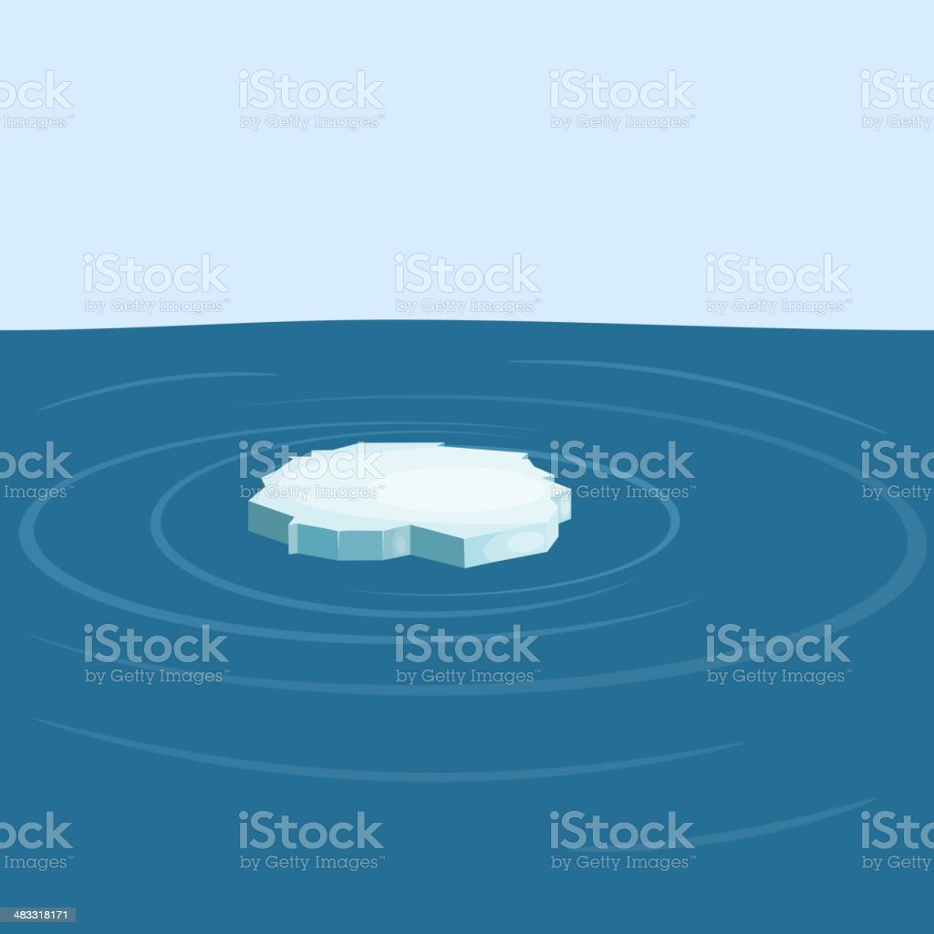 Floe in the sea. yeps10 vector art illustration
