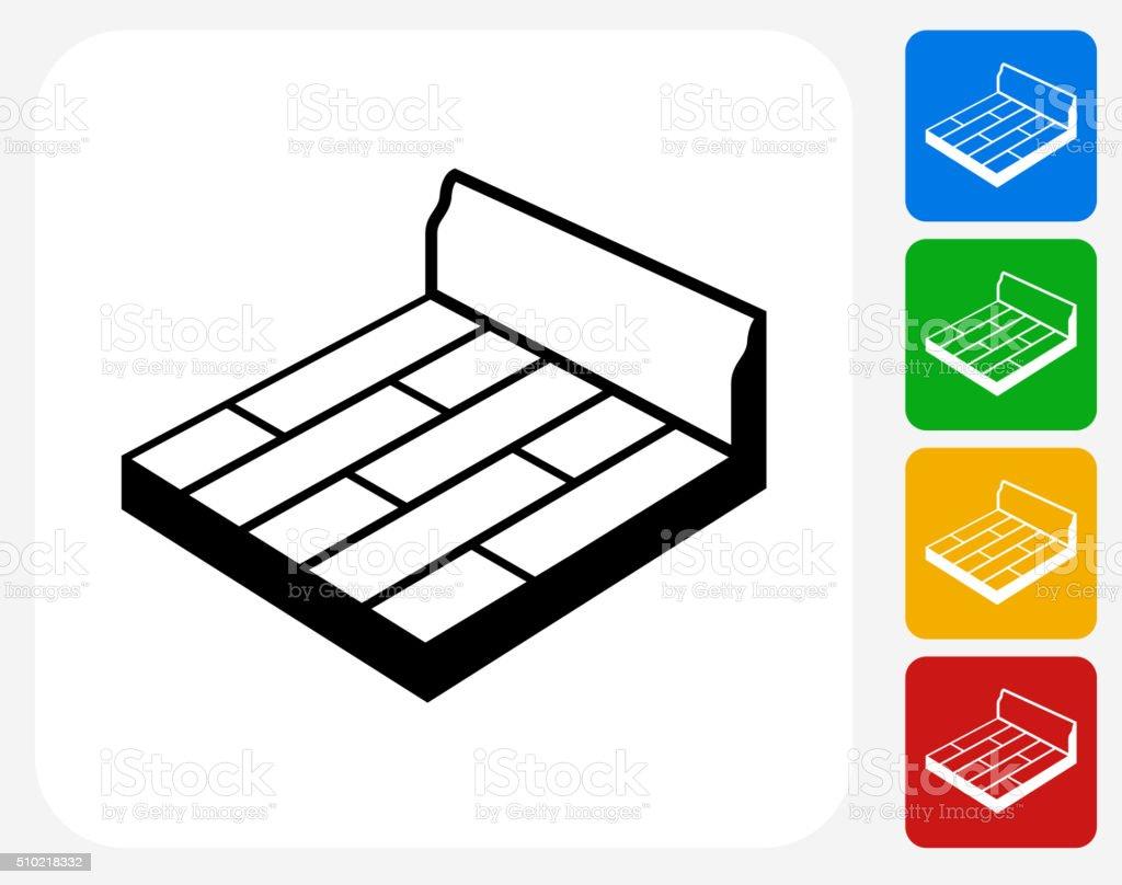 Floor Board Icon Flat Graphic Design vector art illustration