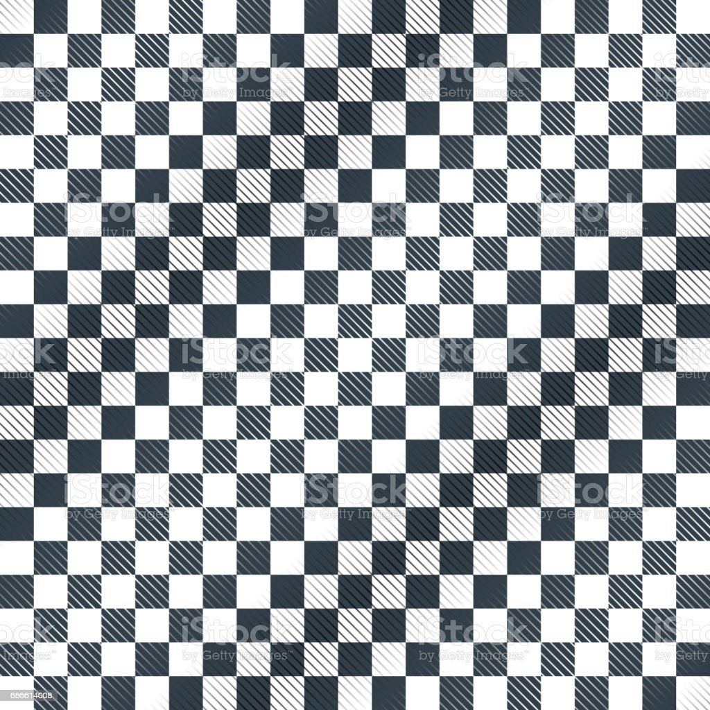 Floor Checkerboard Or Finish Racing Car Flag Vector Stock Vector