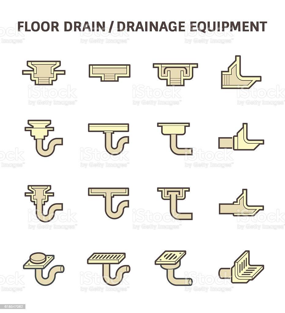 Floor drain icon vector art illustration