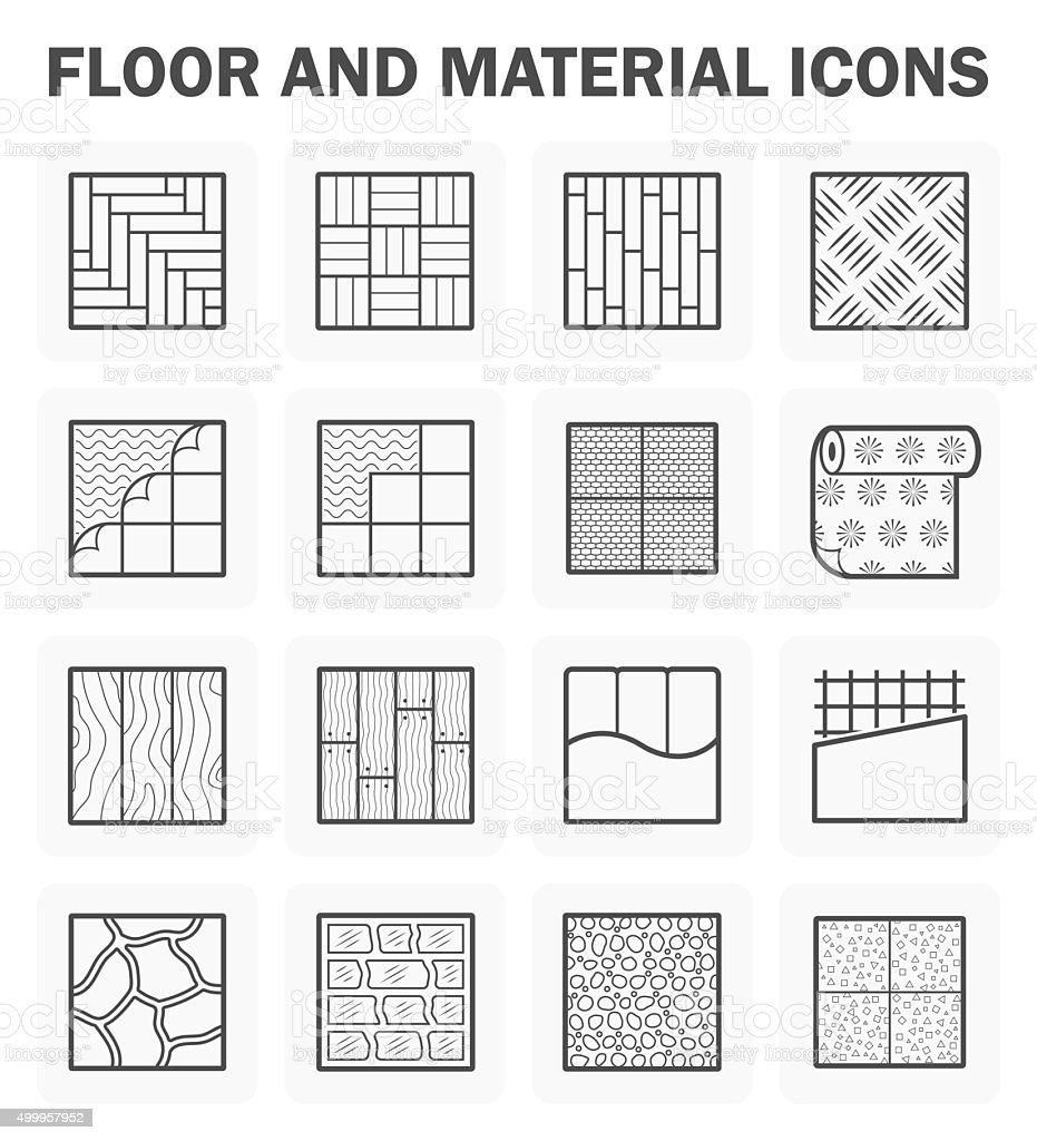Floor icons vector art illustration