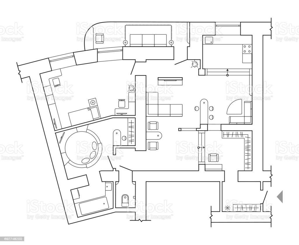 floor plan top view plans standard home furniture symbols set used