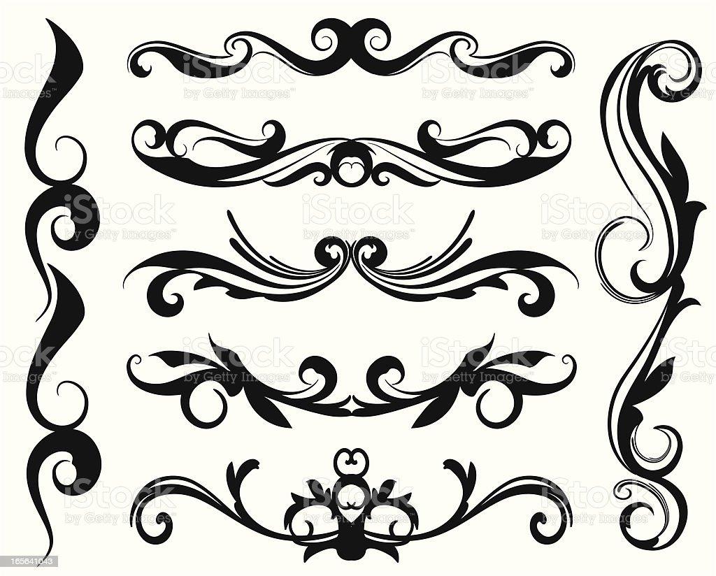 flora decoration royalty-free stock vector art