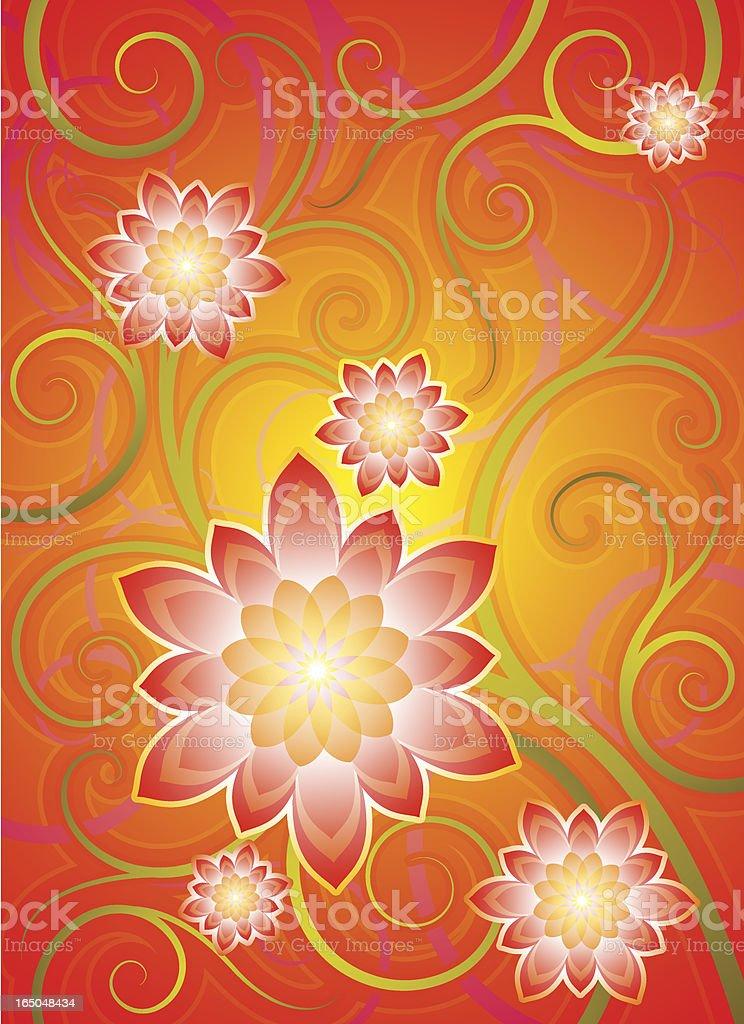 Flora motif (vector) vector art illustration