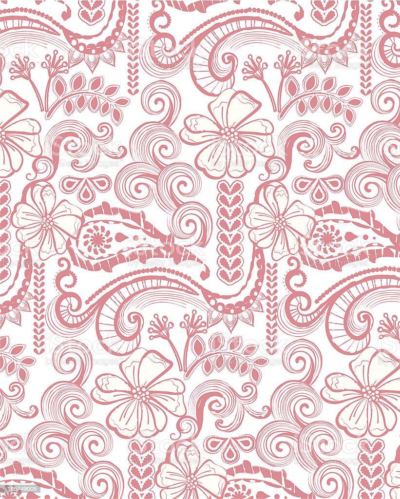 flora pattern design royalty-free stock vector art